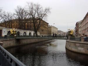 Вид на мост со сфинксами