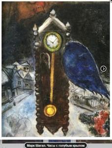 Часы с голубым крылом