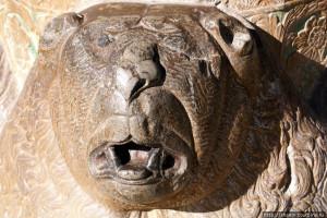 Голова медведя Персия Исфахан Дворец Сорока Колонн Чехель Сотун