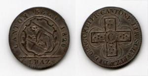 Разменная монета Швейцарии BatzenBern