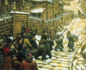 Рис.17 Аполлинарий Васнецов. Медведчики Старая Москва. Фрагмент