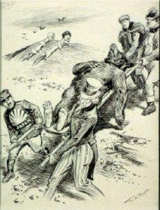 Рис.29 Карикатура Россия, Ленин и Троцкий– НеМедведи 1918 США