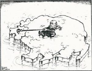 Рис.36 Карикатура Михаил Горбачев 1989 ФРГ