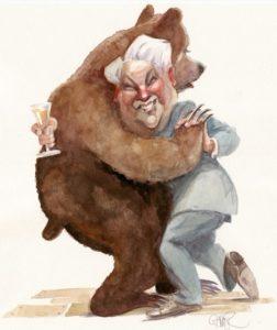 Рис.37 Карикатура Борис Ельцин Конец 1990-х Швеция