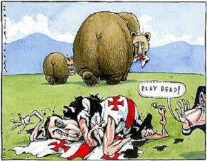 Рис.39 Карикатура Владимир Путин и Дмитрий Медведев 2008 Англия