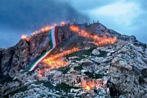 Рис.6 Навруз Курдистан, факельное шествие