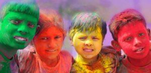 Рис.7 Праздник красок Холи. Дети. Индия