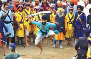 Танец Сикха на Холла Мохалл. Индия