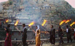 Факельное шествие. Навруз. Курдистан. Ирак