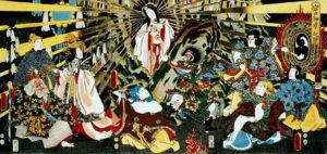 Рис.4 Японская Богиня Солнца Аматэрасу, выходящая из пещеры